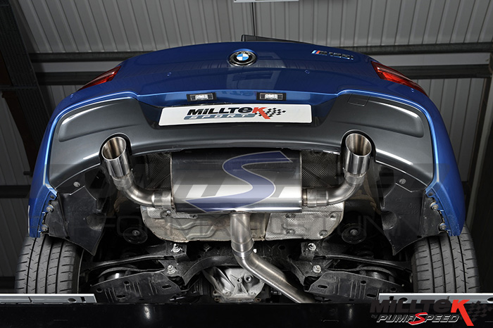 Milltek Exhaust BMW 1 Series M 135i 5-door Sports Hatch (F20) Cat-back with Dual GT90 tailpipe (SSXBM967)
