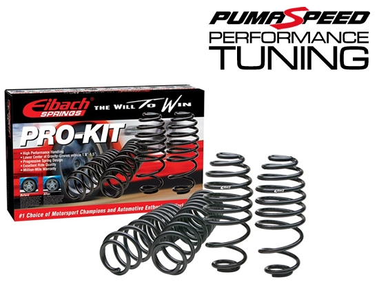 Eibach Pro kits available for all Ford Fiesta and Focus Lowering Springs