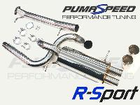 R-Sport De-Cat and Vulcan 3 Inch Cat Back Exhaust with MAXD Stage 2R Crackle Flame Map SPECIAL OFFER