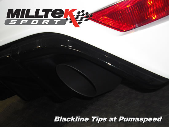 Focus RS Mk2 2009 Milltek sport blackline exhaust tail pipes