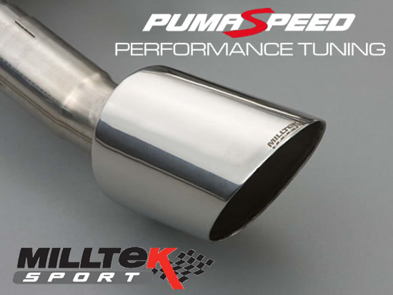 Focus rs mk2 2009 2010 Milltek Sport cat back exhaust hand made polished tips at pumaspeed