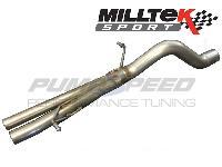 Milltek Fiesta Mk7 1.0l EcoBoost Back Box Delete Pipe