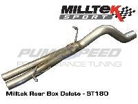 Milltek Fiesta ST 180 Back Box Delete Pipe