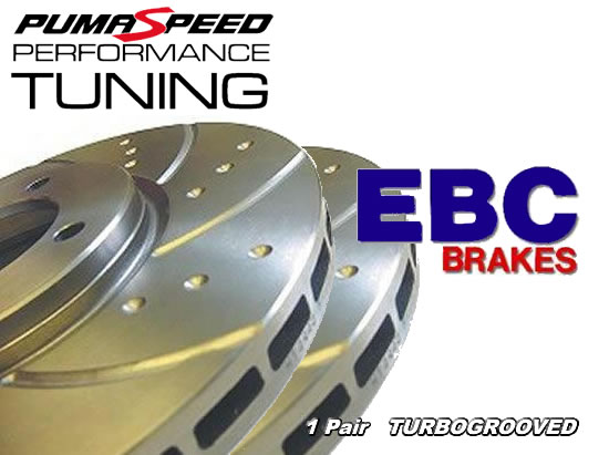 Ford Focus RS Mk2 EBC Turbo Grooved Front Brake Discs
