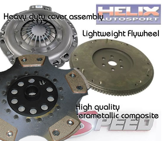 Ford Focus RS Mk2 Helix 5 Paddle Clutch and Flywheel Kit
