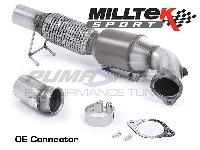 TUV HJS Ford Focus RS MK3 Milltek Sport 200 Cell Sports Cat Down Pipe