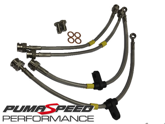 Ford Fiesta Mk7 Braided Brake Hose Kit by Pumaspeed