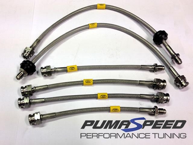 Stainless Braided Brake Hose : Focus st stainless steel braided hose kit