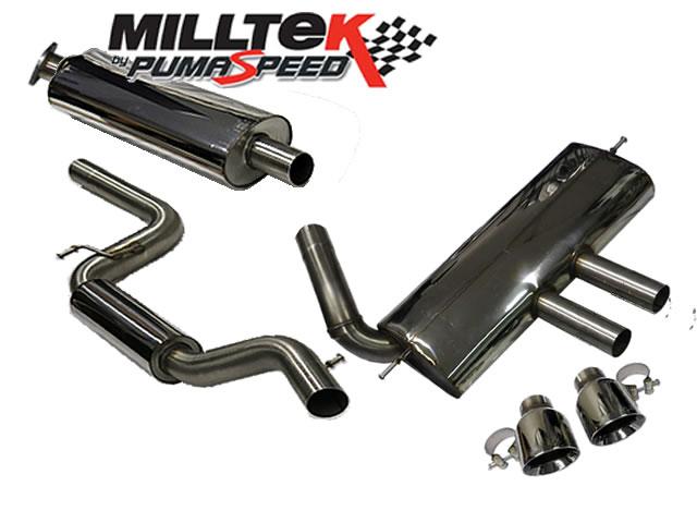 Milltek Sport Cat-back with Dual GT100 tailpipe (SSXFD094) - Ford Focus Mk3 ST 2.0-litre EcoBoost 5-Door Hatchback