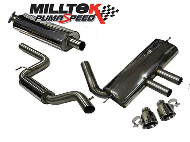 Milltek Sport Cat-back with Dual GT100 tailpipe Ford Focus Mk3 ST 2.0-litre EcoBoost 5-Door Estate