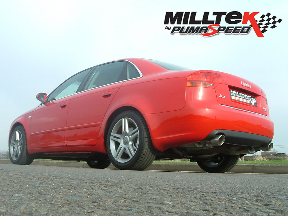 milltek exhaust audi a4 2 0 tfsi b7 quattro and dtm cat. Black Bedroom Furniture Sets. Home Design Ideas