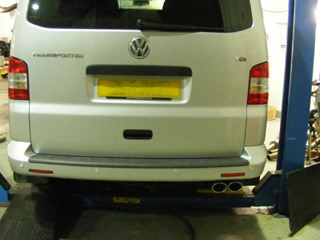 Milltek Sport Exhaust Volkswagen Transporter T5 Swb 20litre 140ps 2wd And 4motion Particulate Filterback Ssxvw200: Vw T5 Exhaust At Woreks.co