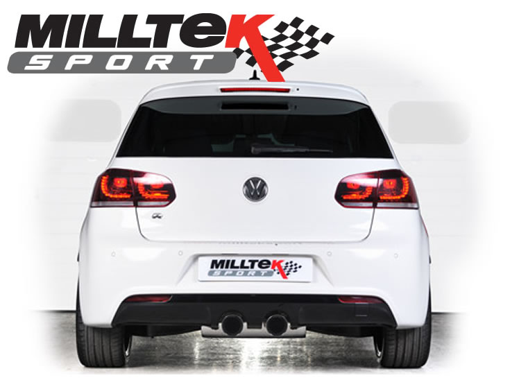 Milltek Sport exhaust VW Golf mk6 Particulate Filter-back with Twin 80mm GT80 tailpipe Exhaust System SSXvw182