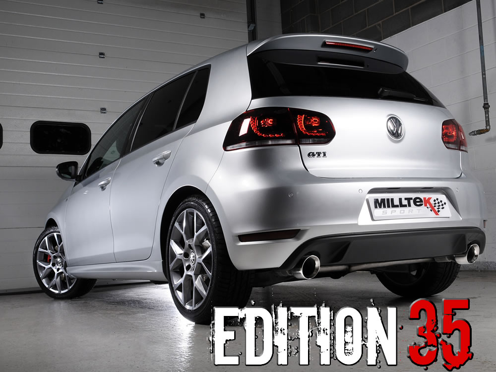 milltek sport exhaust volkswagen golf mk6 gti edition 35 cat back ssxvw177. Black Bedroom Furniture Sets. Home Design Ideas