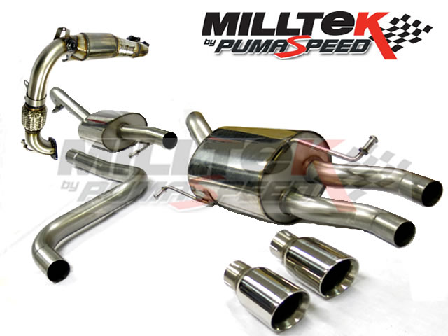 Milltek sport fiesta 1.0 ecoboost resonated turbo back including high flow sportscat