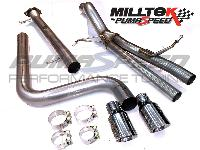 Milltek Fiesta ST 180 Supersport Race Back Exhaust - with Back Box Delete