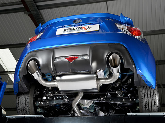 Milltek Exhaust Scion FR-S 2.0-litre Primary Cat-back with Dual GT115 tailpipe  (SSXSB031)