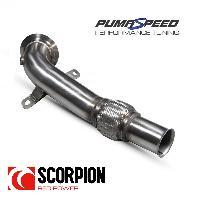 Scorpion Fiesta ST Mk8 1.5 EcoBoost De-Cat Downpipe - Ford Fiesta ST Mk8 1.5 EcoBoost