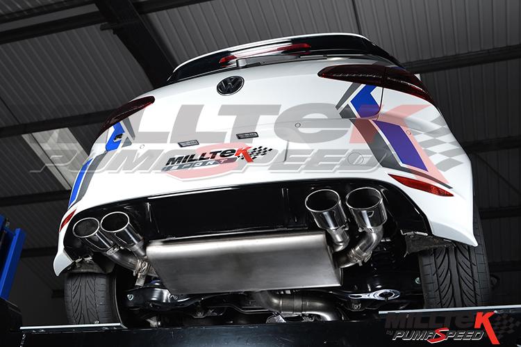 Milltek Exhaust Volkswagen Golf MK7 R 2.0 TSI 300PS Cat-back (SSXVW257)