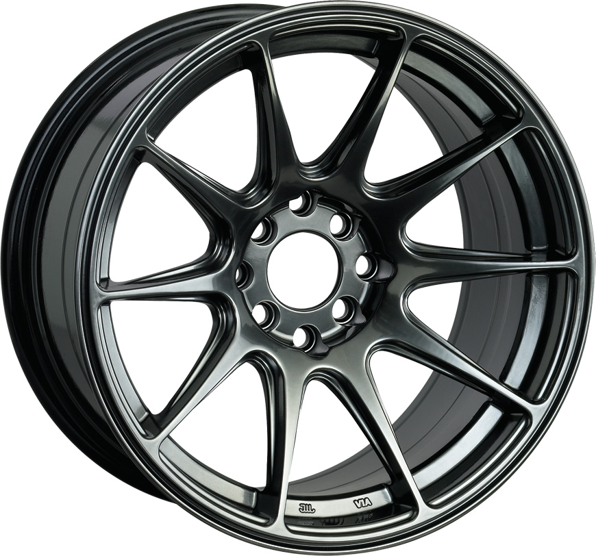 Black Alloy Wheels 8.25 et35 17 inch - Set of 4 (4 STUD)