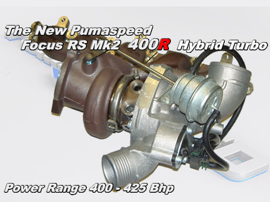 Focus rs mk2 2009 400R hybrid turbocharger at Pumaspeed