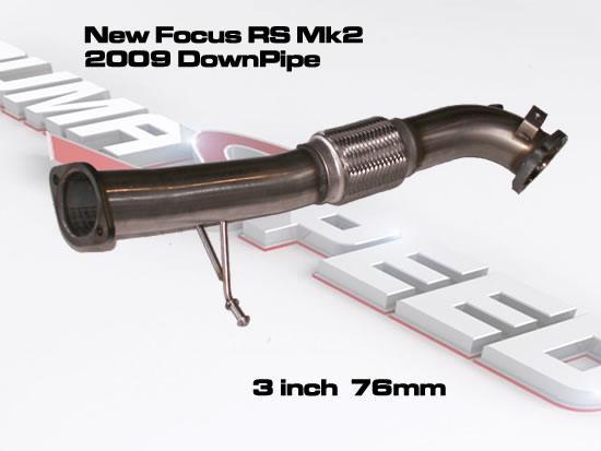 milltek sport focus rs mk2 2009 down pipe 3 inch 76mm. Black Bedroom Furniture Sets. Home Design Ideas