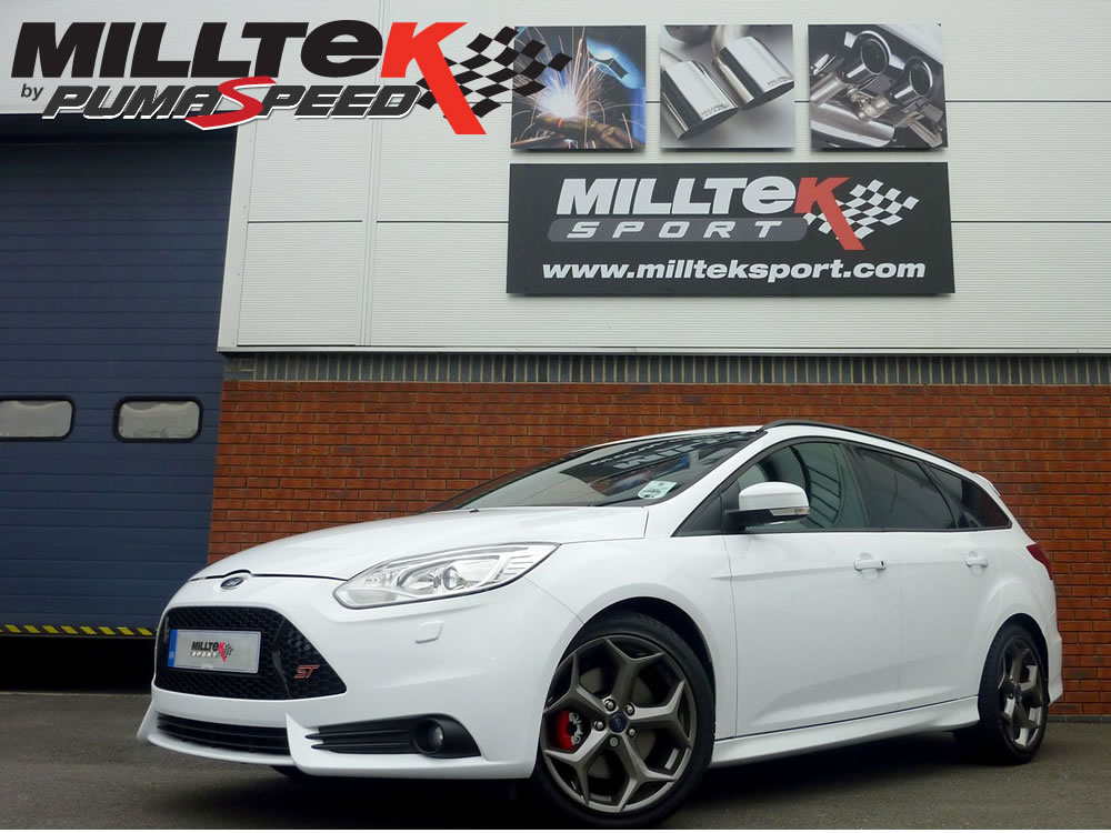 milltek sport exhaust ford focus mk st  litre ecoboost estate sedan limosine cat