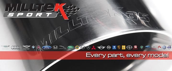 Browse our Milltek store, we have every available Milltek Exhaust system and component.