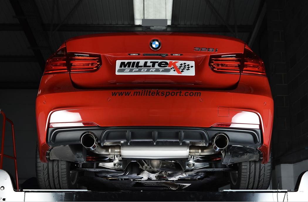milltek exhaust bmw 3 series (f30) 328i m sport automatic cat