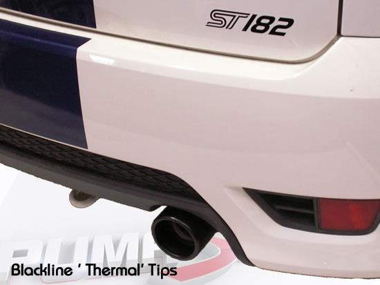 Ford Fiesta ST150 Milltek Sport Exhaust with Blackline_tips